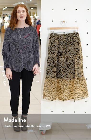 Leopard Print Organza Midi Skirt, sales video thumbnail