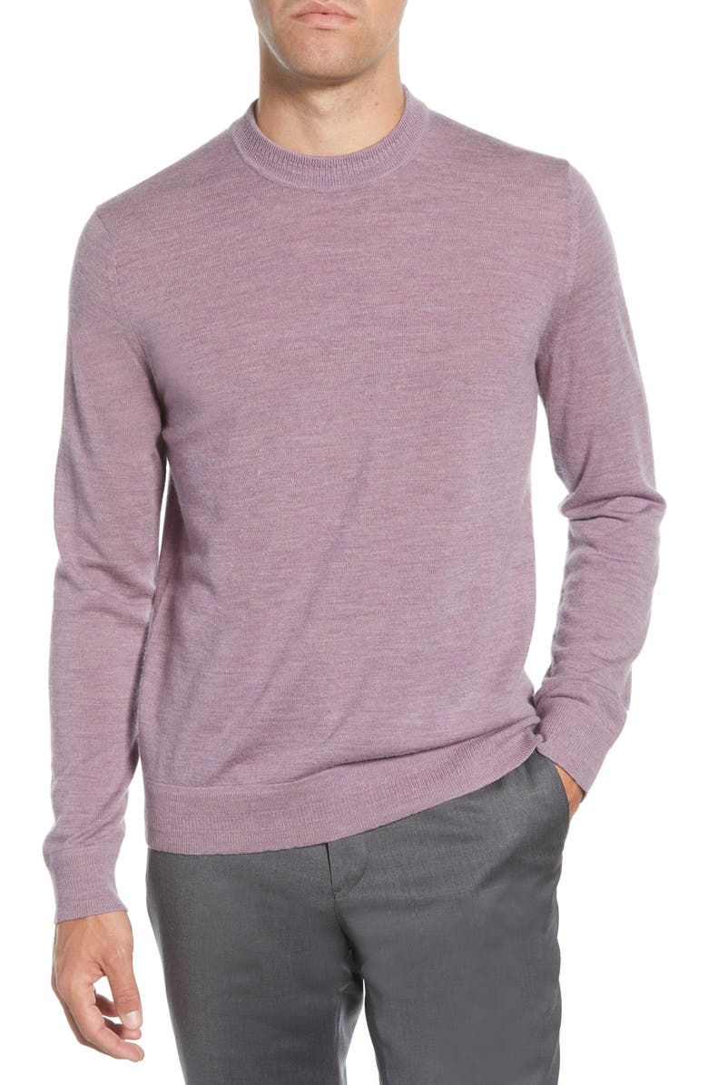 TED BAKER LONDON Chemin Slim Fit Crewneck Sweater, Main, color, MID-PURPLE