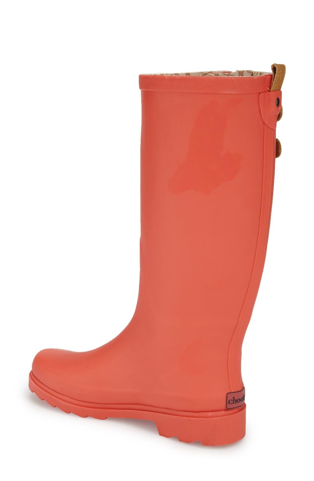 ,                             'Top Solid' Rain Boot,                             Alternate thumbnail 126, color,                             611