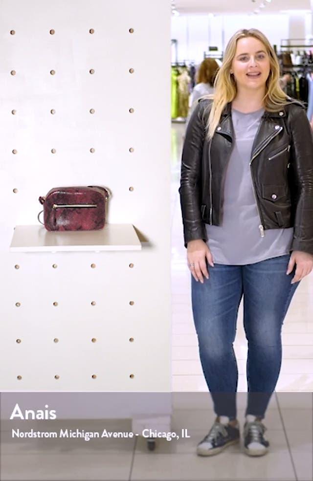 Small Dianne Snake Embossed Crossbody Bag, sales video thumbnail