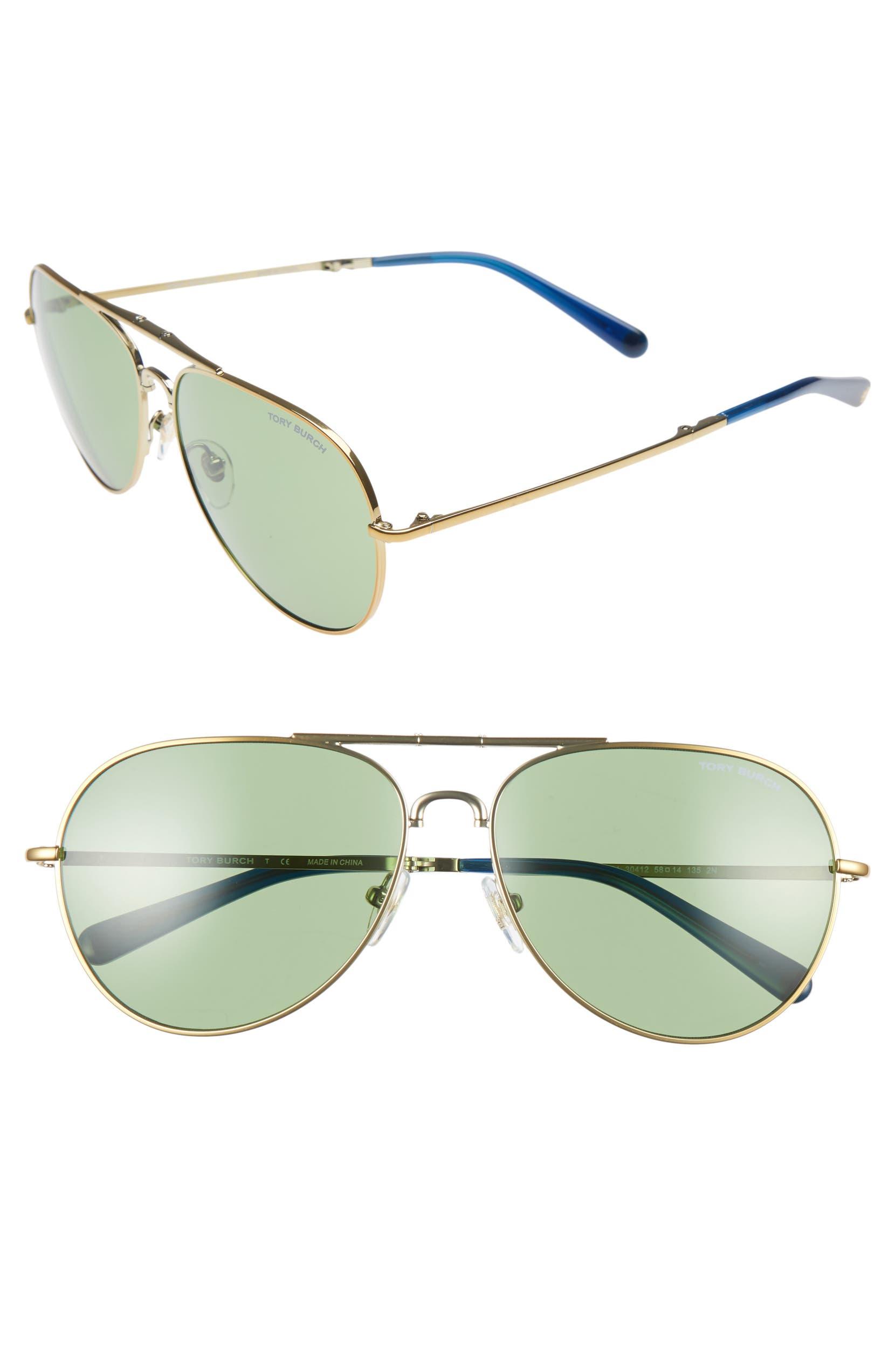 f9ea9e4a3429 Tory Burch 58mm Foldable Aviator Sunglasses | Nordstrom