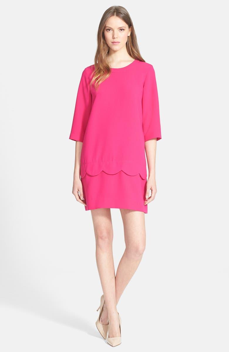 KATE SPADE NEW YORK 'demi' scallop shift dress, Main, color, 694