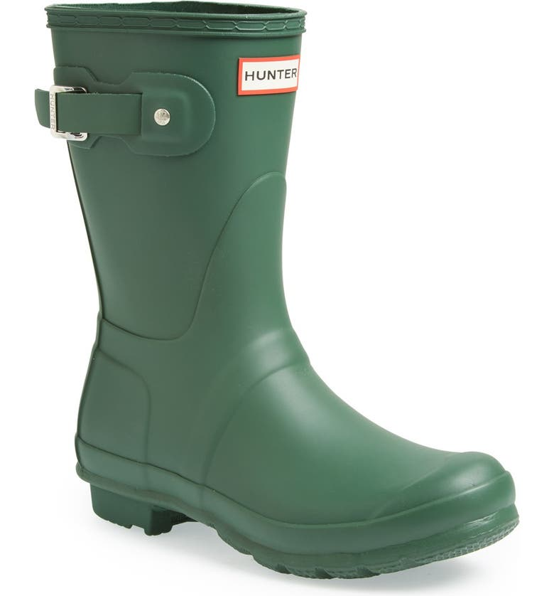 HUNTER Original Short Waterproof Rain Boot, Main, color, HUNTER GREEN