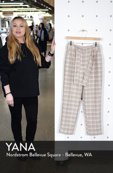 Check Print Straight Leg Trousers, sales video thumbnail