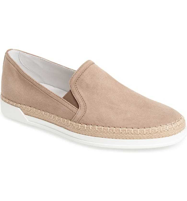 TOD'S Slip-On Suede Sneaker, Main, color, 200