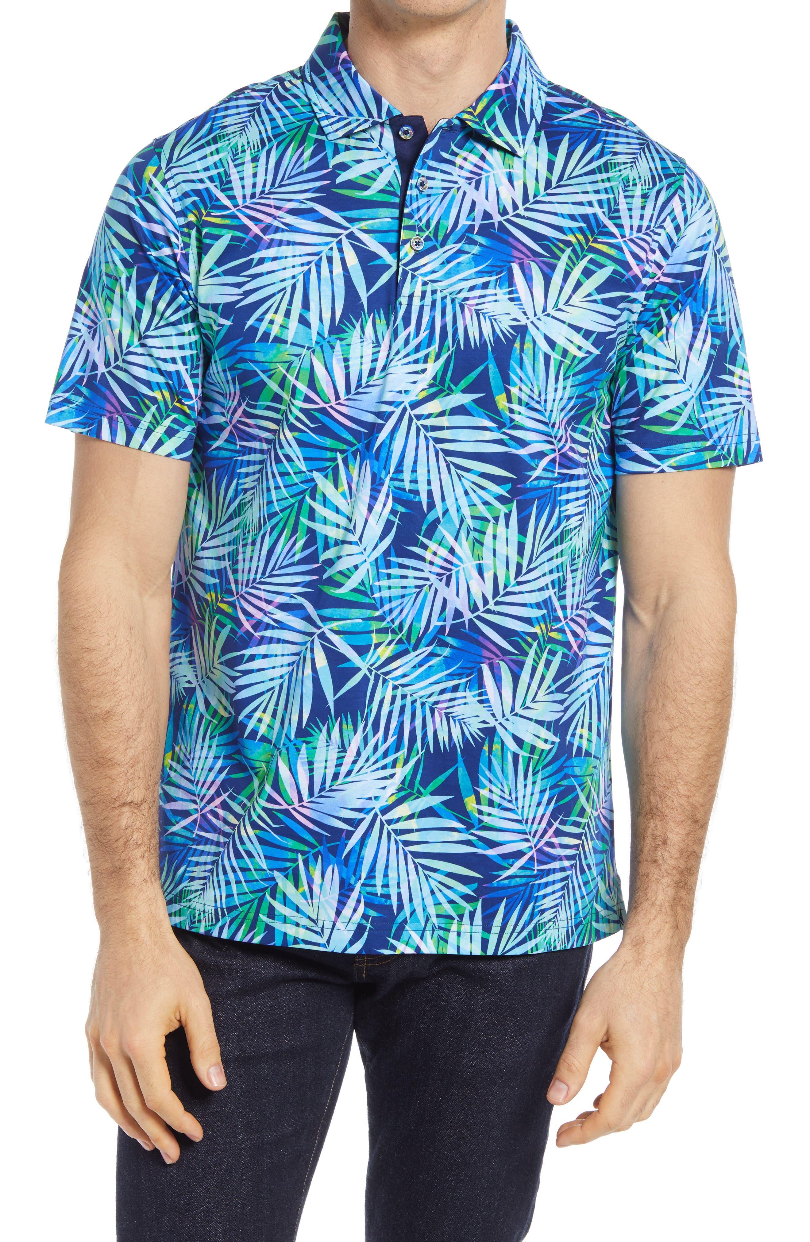 Palm Leaf Print Polo