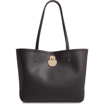 Longchamp Cavalcade Leather Tote - Black