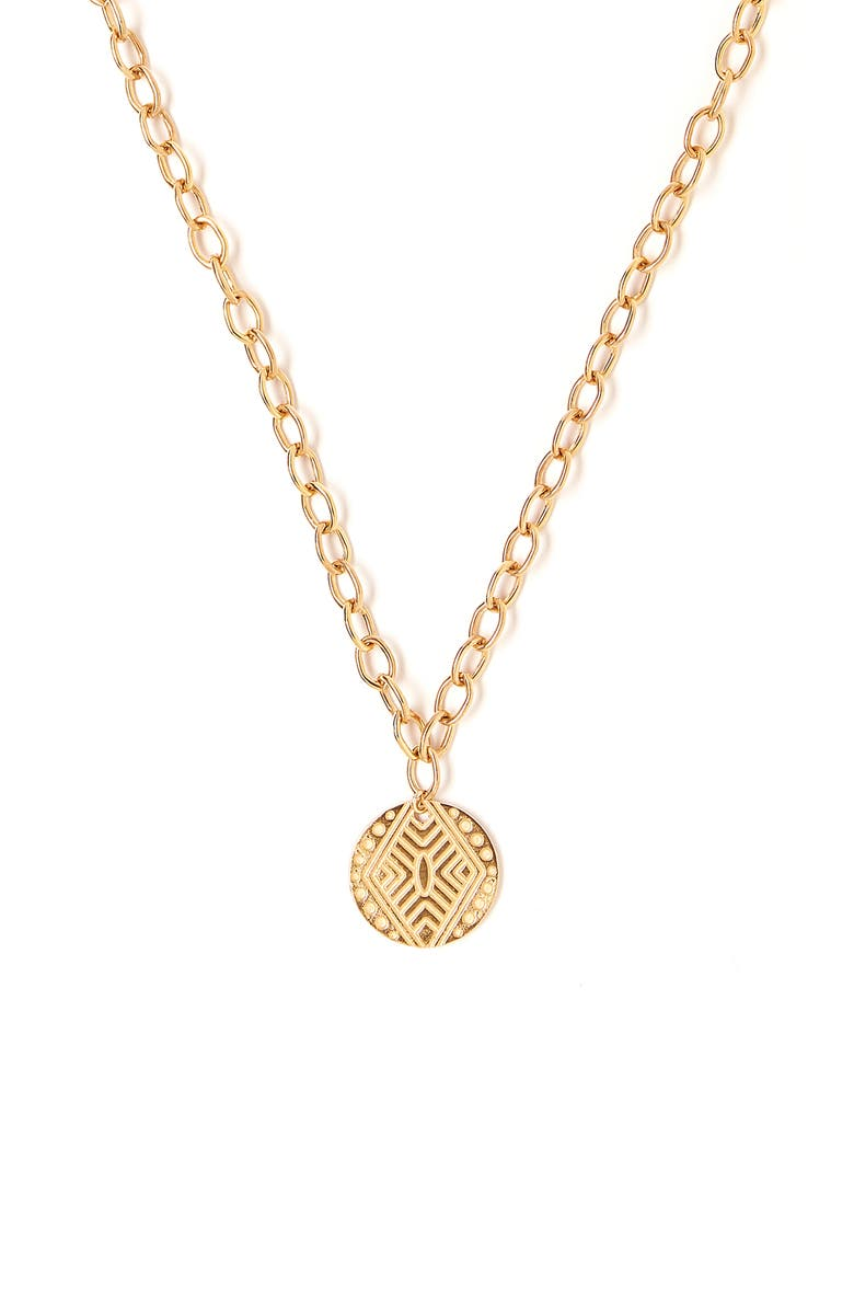 TESS + TRICIA Pendant Necklace, Main, color, GOLD