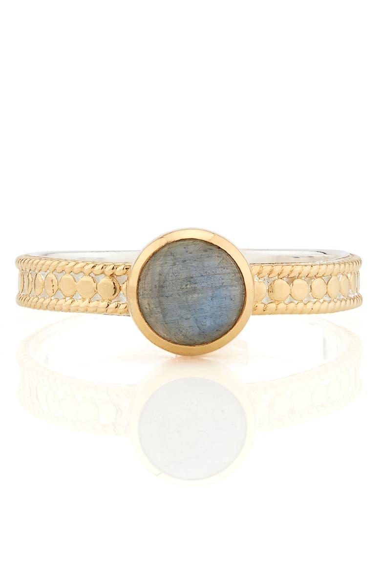 ANNA BECK Labradorite Stacking Ring, Main, color, GOLD/ LABRADORITE