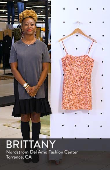 Baylee Whisper Print Minidress, sales video thumbnail