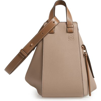 Loewe Hammock Medium Calfskin Leather Hobo - Beige