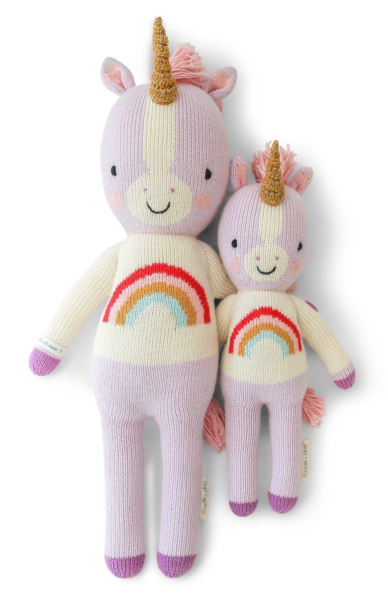 CUDDLE+KIND cuddle + kind Zoe the Unicorn Stuffed Animal, Main, color, PURPLE