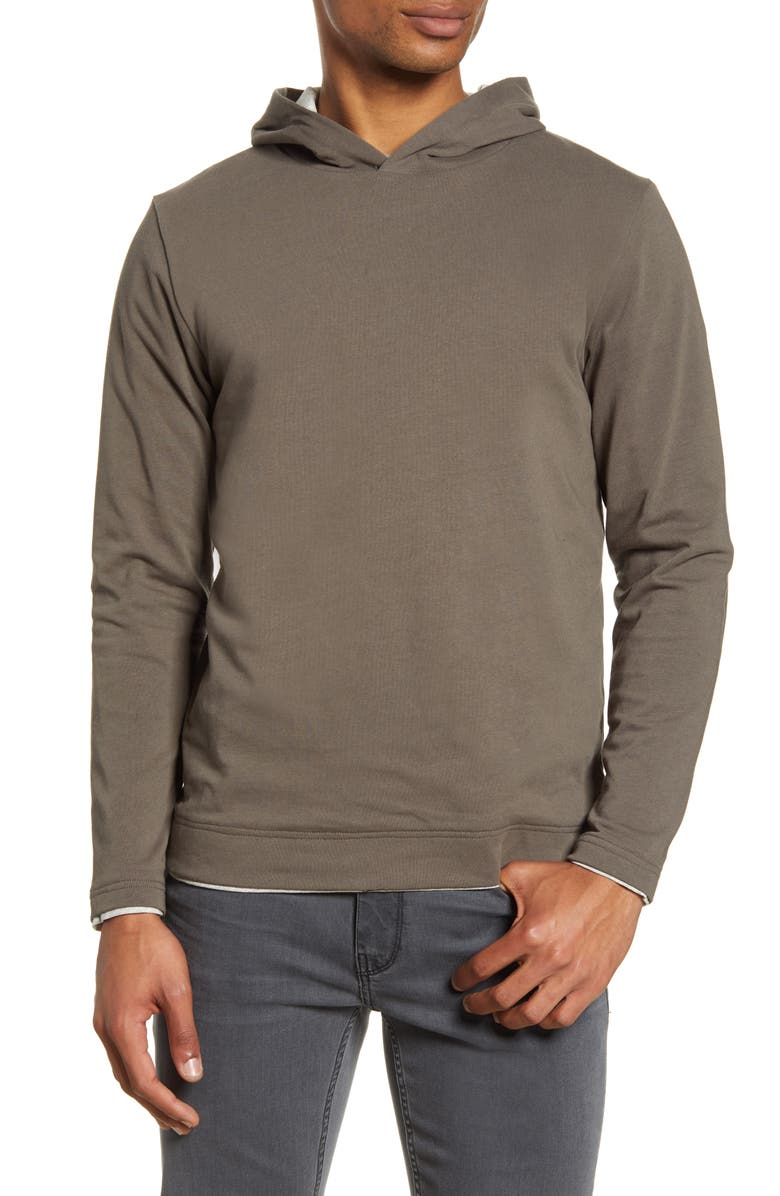 ACYCLIC Double Layer Pullover Hoodie, Main, color, CHARCOAL