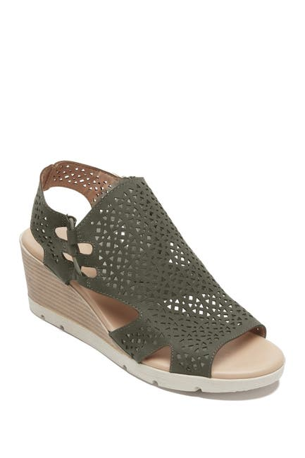 Image of Rockport Hadley Bungee Wedge Sandal