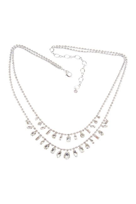 Image of CRISTABELLE Mixed Crystal Dangle Double Strand Necklace
