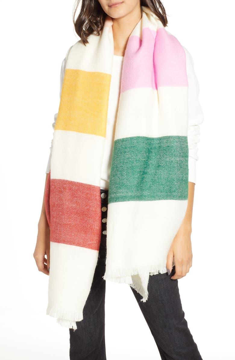 MADEWELL Multi Stripe Scarf, Main, color, 100