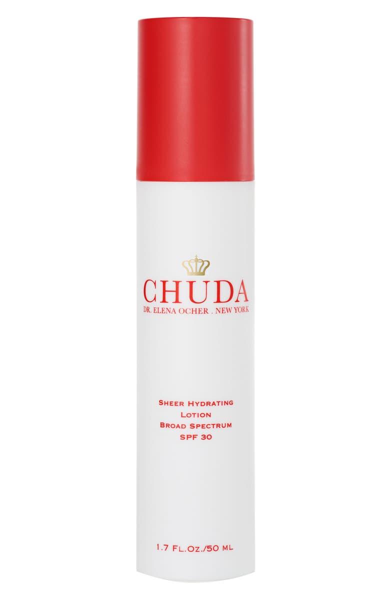 CHUDA Sheer Hydrating Lotion Broad Spectrum SPF 30, Main, color, NO COLOR