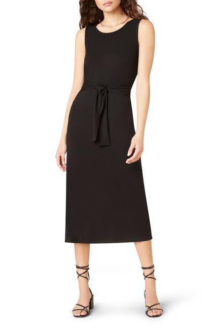 Image of BB Dakota Chic to Chic Belted Jersey Midi Dress