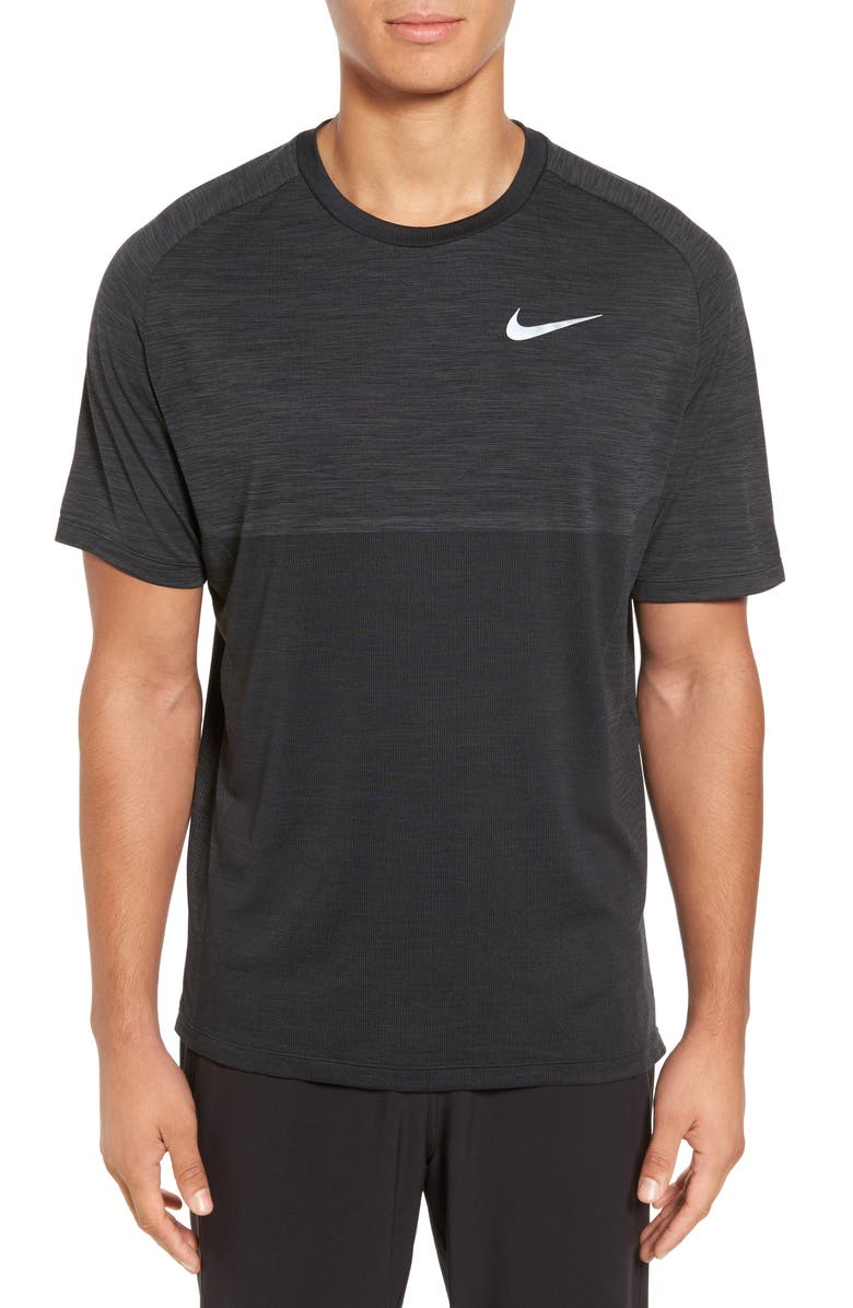 NIKE Dry Medalist Running Top, Main, color, ANTHRACITE/ BLACK