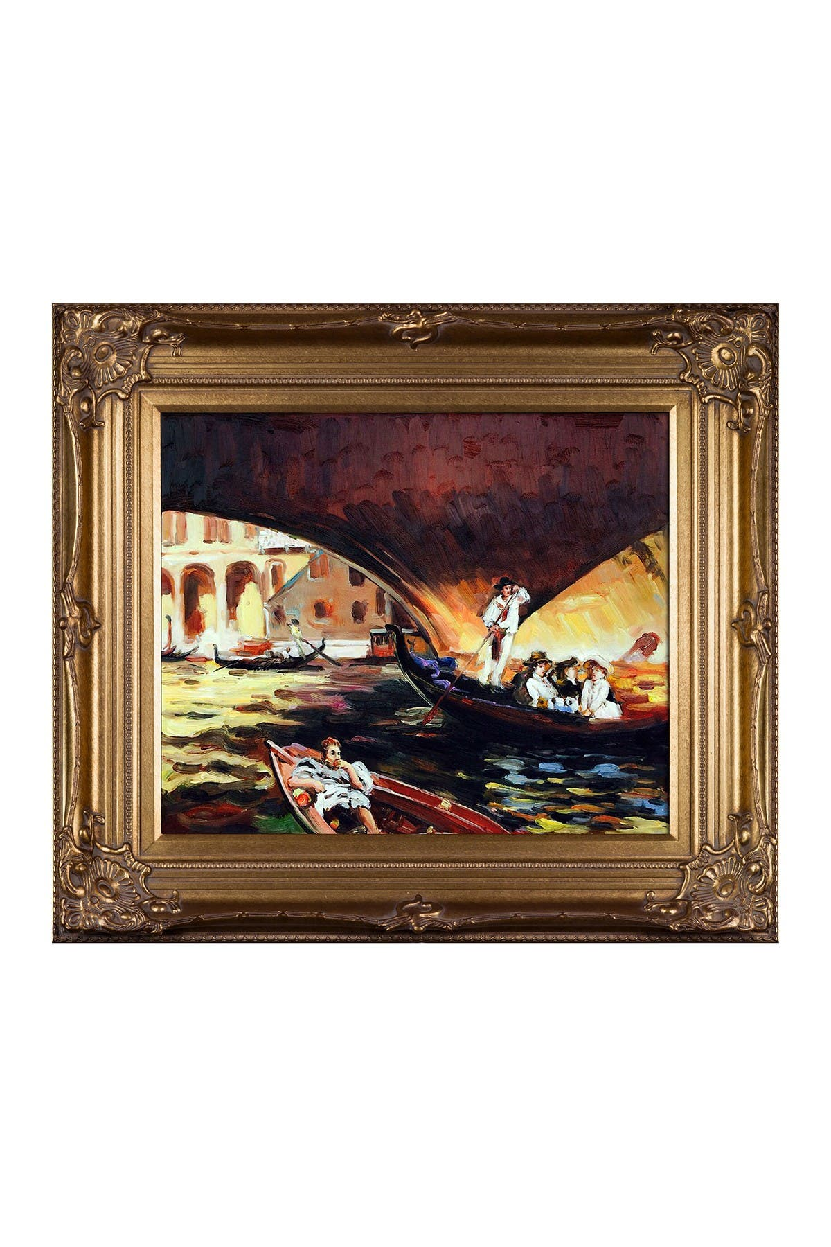 """Image of Overstock Art The Rialto, Venice, 1909 with Renaissance Bronze Frame - 30"""" x 34"""""""