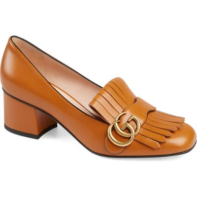 Gucci Gg Marmont Pump, Brown