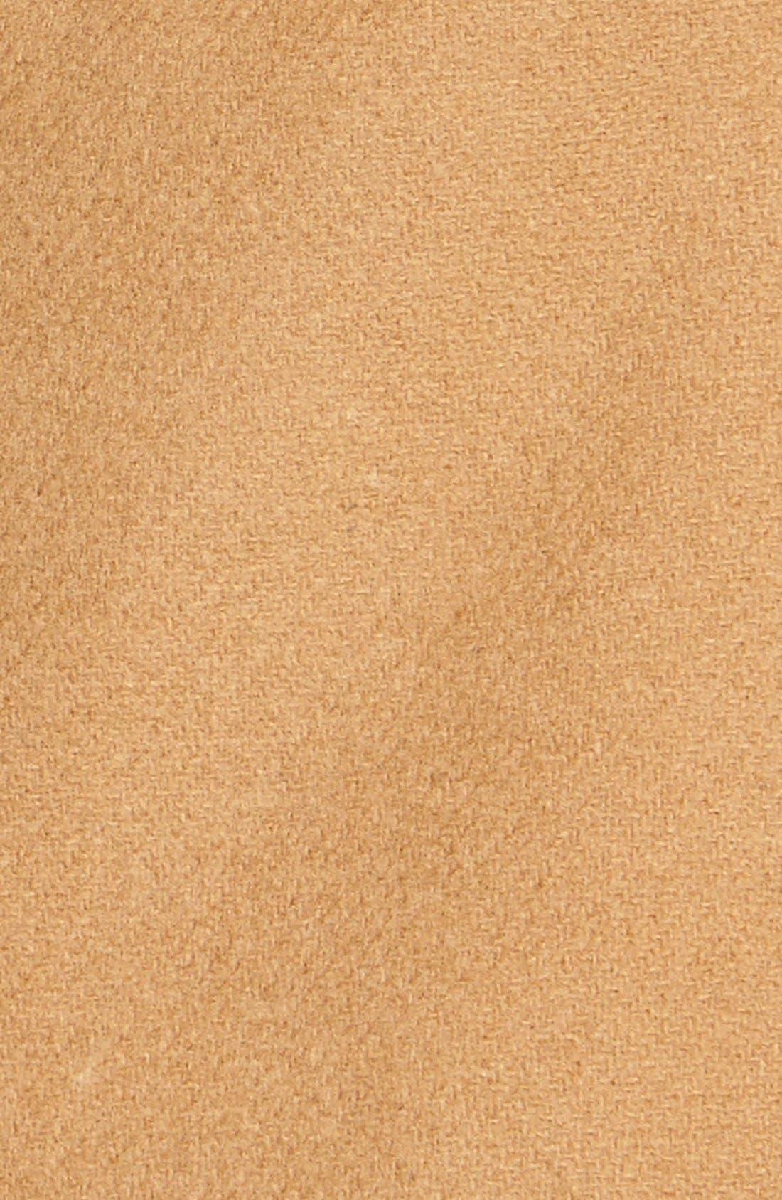 ,                             Genuine Coyote Fur Trim Wool Blend Duffle Coat,                             Alternate thumbnail 8, color,                             262