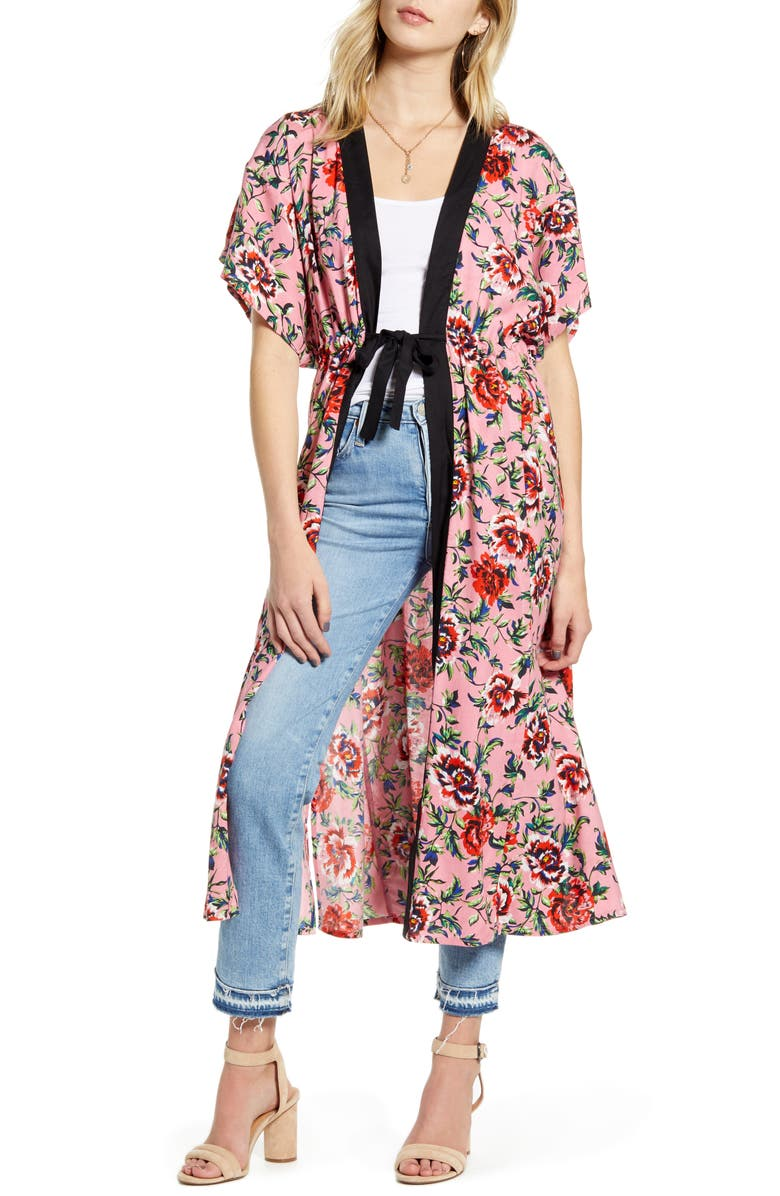 NEW FRIENDS COLONY Summer Rose Duster, Main, color, SUMMER ROSE PRINT