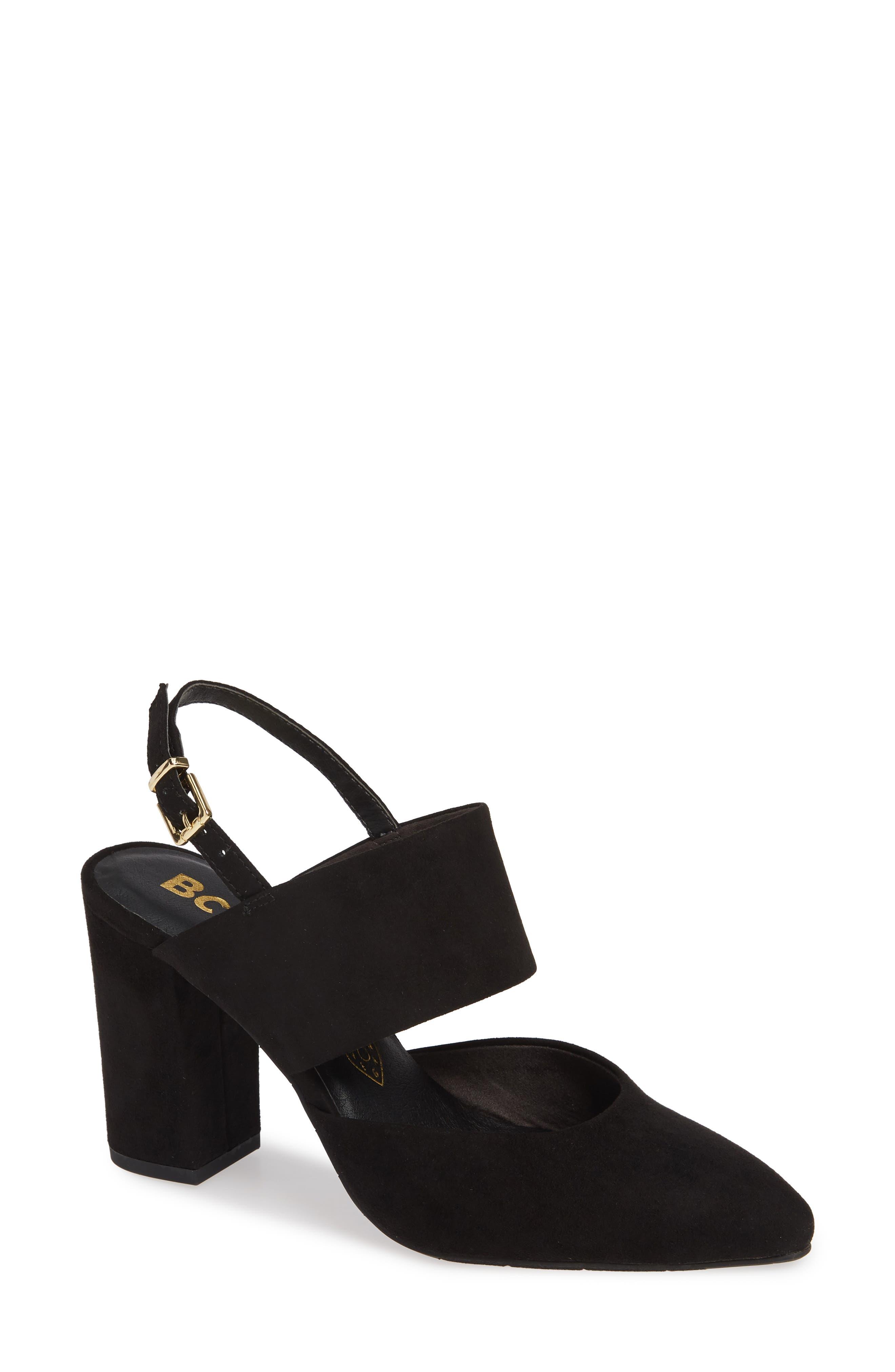 Bc Footwear Value Vegan Slingback Pump- Black
