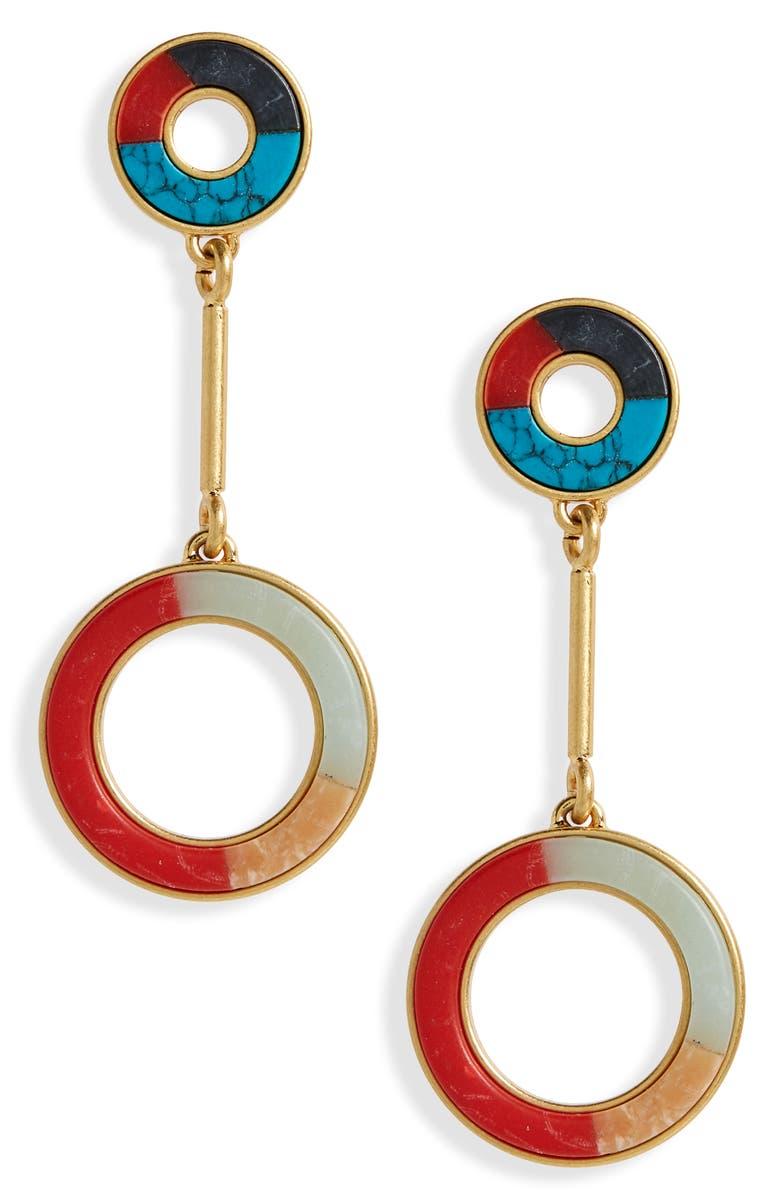 8106d3b62 Madewell Desert Sunset Circle Drop Earrings | Nordstrom