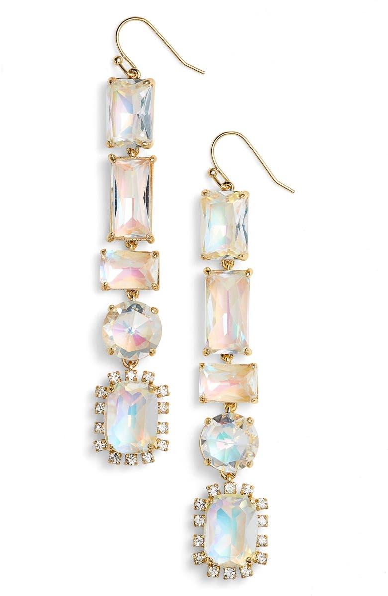 KATE SPADE NEW YORK color crush linear drop earrings, Main, color, 100