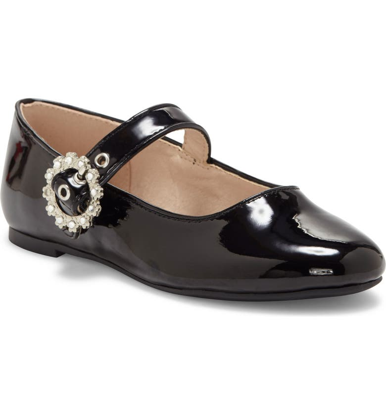VINCE CAMUTO Mary Jane Flat, Main, color, BLACK PAT