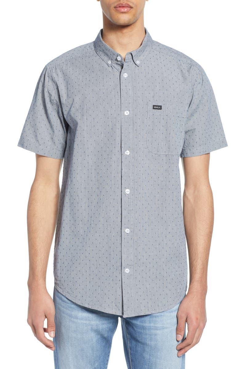 RVCA Thatll Do Dobby Short Sleeve Slim Fit Shirt, Main, color, 487
