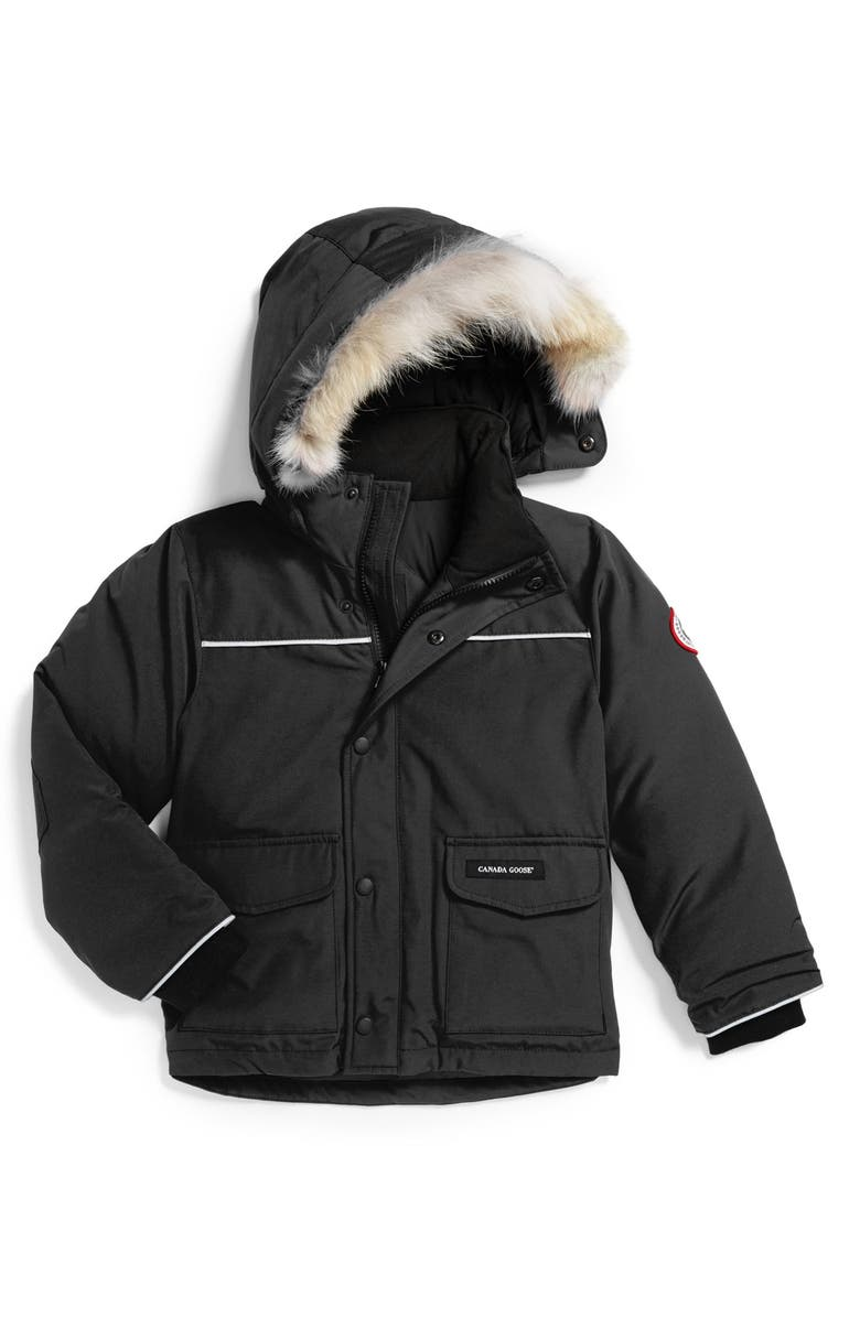 CANADA GOOSE 'Lynx' Down Parka with Genuine Coyote Fur Trim, Main, color, BLACK
