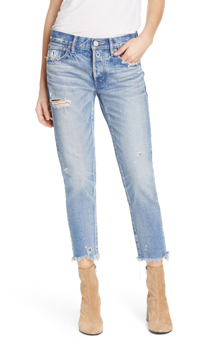 MOUSSY VINTAGE Kelley Crop Tapered Jeans, Main, color, LIGHT BLUE