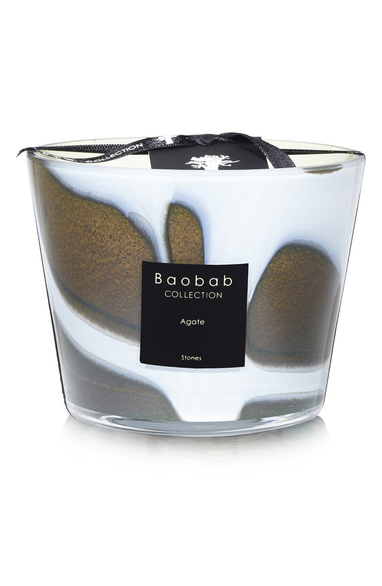 BAOBAB COLLECTION Stones Agate Candle, Main, color, AGATE- SMALL