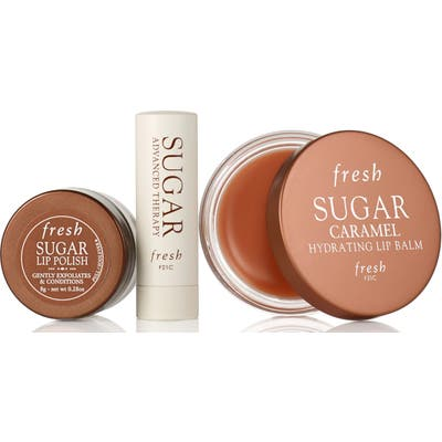 Fresh Full Size Sugar Caramel Hydrating Lip Balm Set