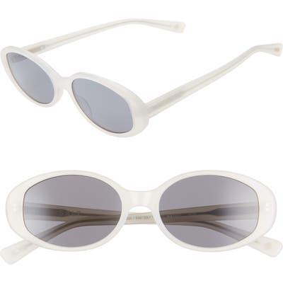 Salt Nadine 52Mm Oval Sunglasses - Matte Off White