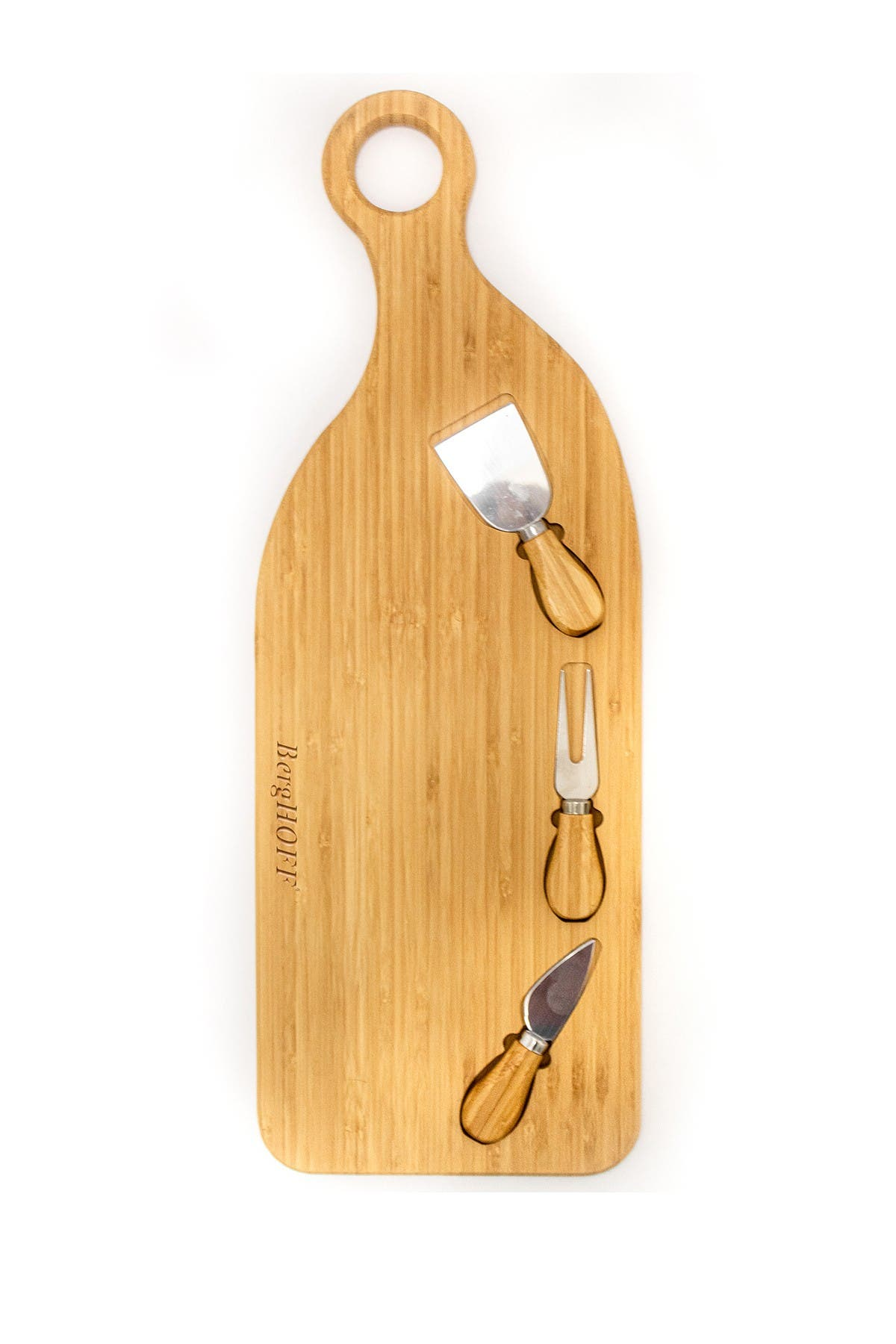 Image of BergHOFF Bamboo 4-Piece Paddle Cheese Board Set