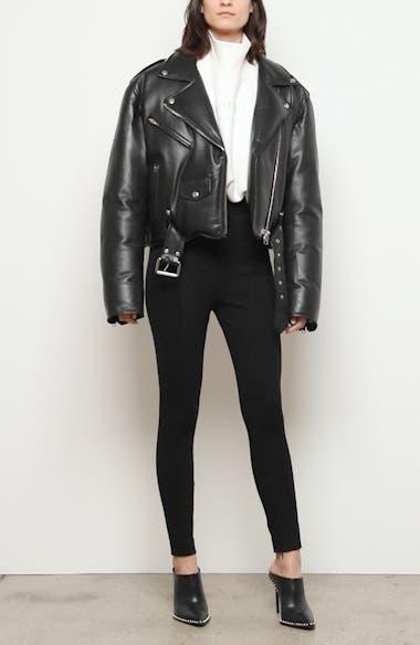 Padded Leather Biker Jacket, video thumbnail