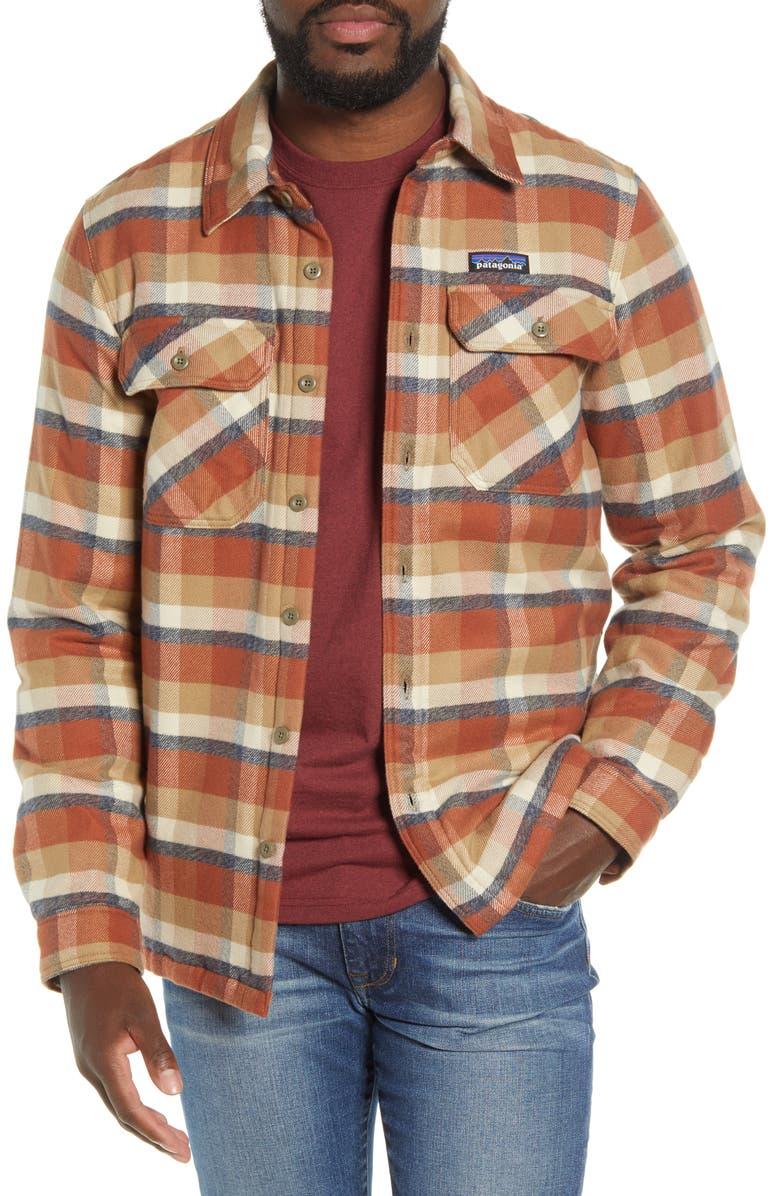 PATAGONIA 'Fjord' Flannel Shirt Jacket, Main, color, OBSERVER MOJAVE KHAKI