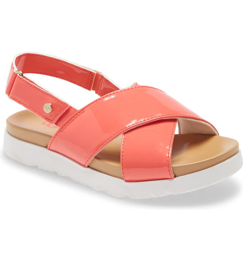 UGG<SUP>®</SUP> Klara Platform Sandal, Main, color, POP CORAL