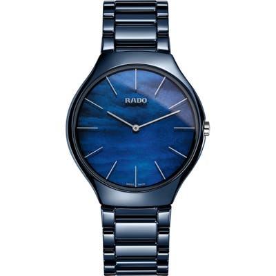 Rado True Thinline Ceramic Bracelet Watch,