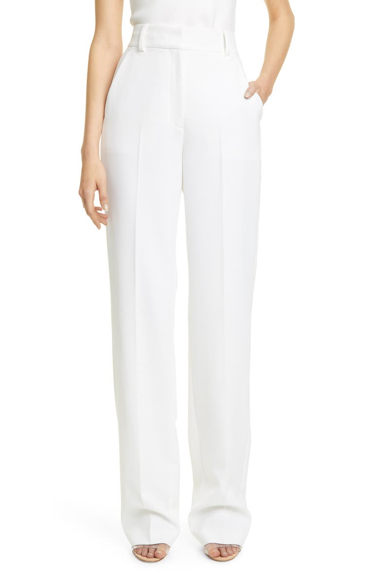 A.L.C. Nigel II High Waist Wide Leg Pants, Main, color, WHITE