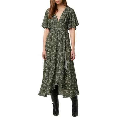 French Connection Ansa Floral Crepe Dress, Green