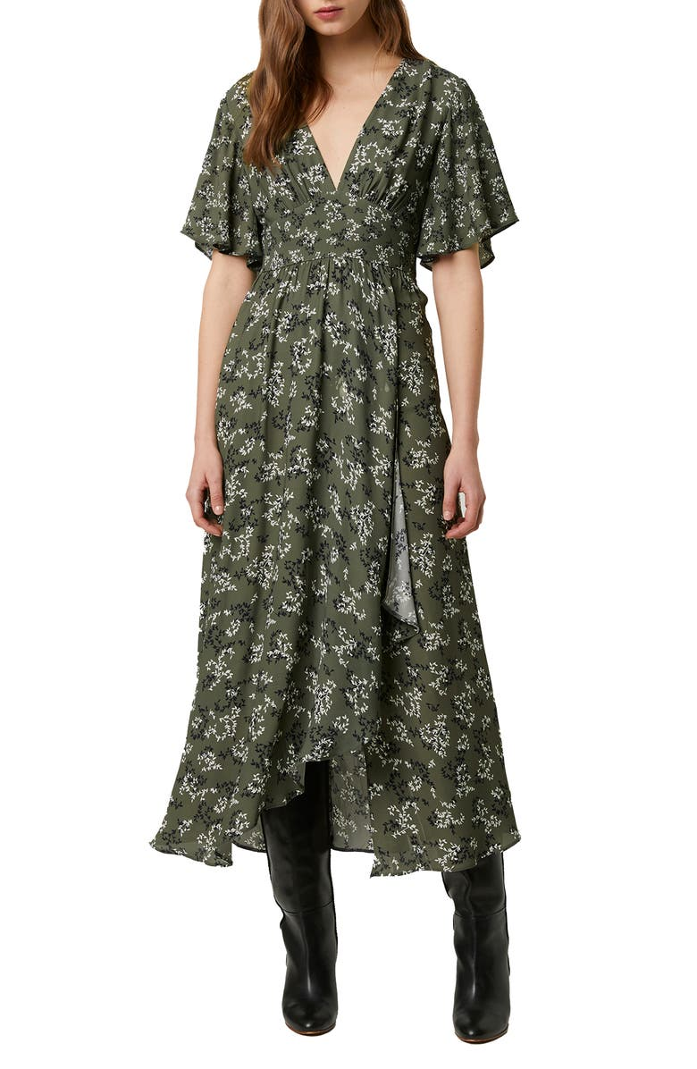 FRENCH CONNECTION Ansa Floral Crepe Dress, Main, color, ASPEN GREEN MULTI