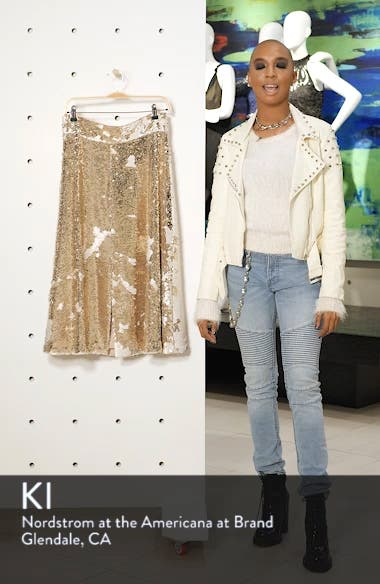 Sequin Embellished A-Line Skirt, sales video thumbnail