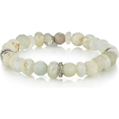 Sheryl Lowe Moonstone & Bone Rondelle Bracelet