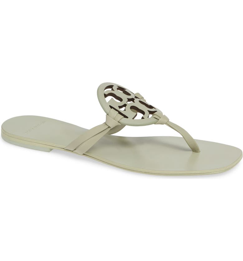 TORY BURCH Miller Square Toe Thong Sandal, Main, color, MINT/ GARDEN SAGE PH