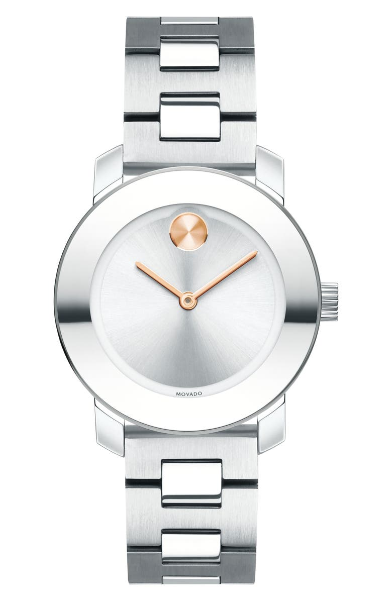 MOVADO Bold Bracelet Watch, 30mm, Main, color, 040