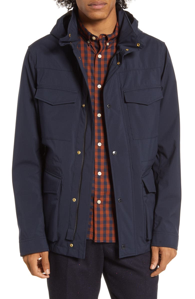 SCOTCH & SODA Technical Regular Fit Field Jacket, Main, color, NIGHT